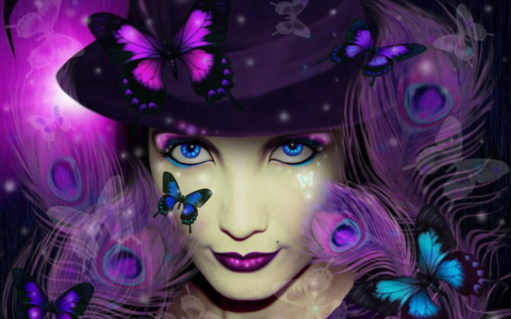 Purple Gothic Butterflies